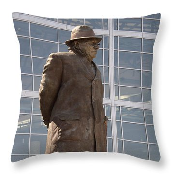 Throw Pillow featuring the photograph One Of The Greatest by Kay Novy