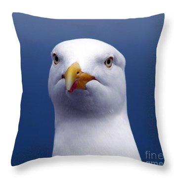 One Strange Bird Throw Pillow