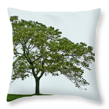 One Tree Hill. Throw Pillow by John Greim