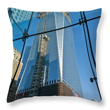 One Wtc Rising Throw Pillow
