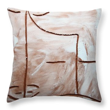 Only - Tile Throw Pillow by Gloria Ssali