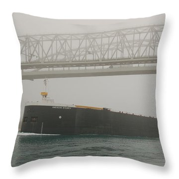 Only A Stones Throw Away Throw Pillow