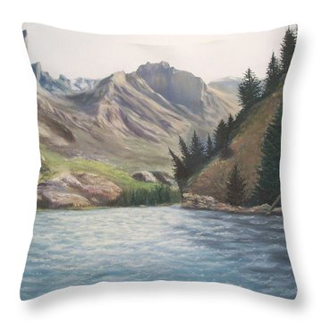 Only The Sound Of The Waves Throw Pillow