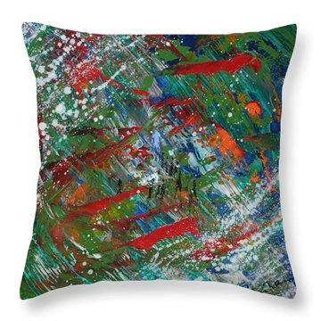 Oochigeas Legend Throw Pillow by Stephane Trahan