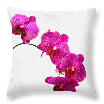 Throw Pillow featuring the photograph Oodles Of Purple Orchids by Michael Waters