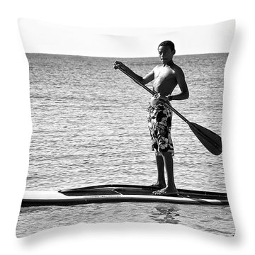 Open Paddle Throw Pillow