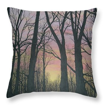Throw Pillow featuring the painting Opening Day - Northern Hardwoods by Kathleen McDermott
