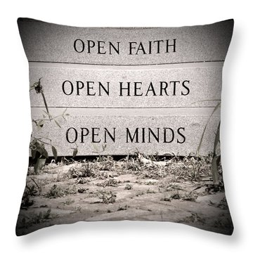 Throw Pillow featuring the photograph Openings by Jean Haynes