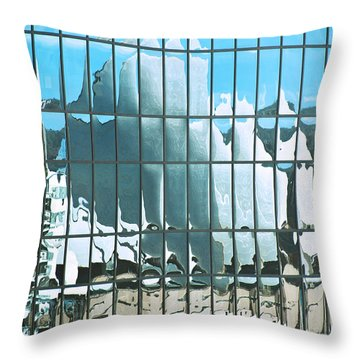 Opera House Reflection Throw Pillow by Bob and Nancy Kendrick