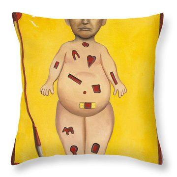 Operation Trump Work In Progress Throw Pillow by Leah Saulnier The Painting Maniac