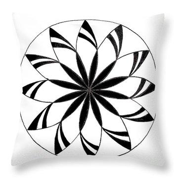 Opt Art 3 Throw Pillow