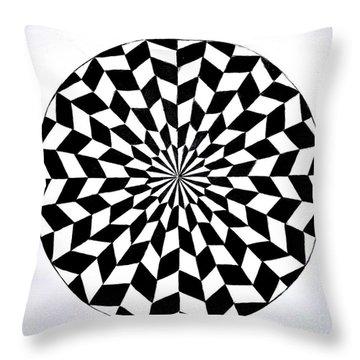 Opt Art 5 Throw Pillow