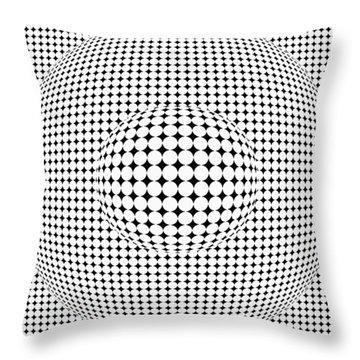 Optical Illusion Ball In Ball Throw Pillow