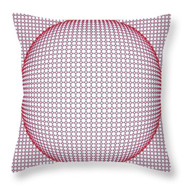 Optical Illusion Blue And Red Throw Pillow