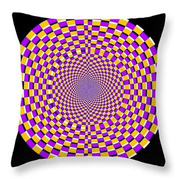 Optical Illusion Moving Cobweb Throw Pillow