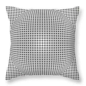 Optical Illusion Plastic Ball Throw Pillow