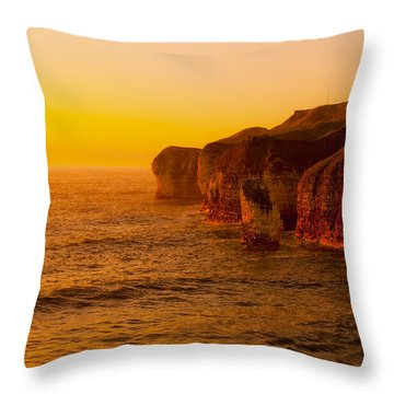 Orange Dusk Throw Pillow by Svetlana Sewell