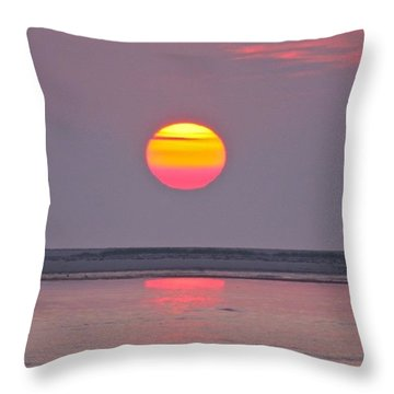 Orange Glow   Throw Pillow by Justin Connor