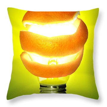 Orange Lamp Throw Pillow by Carlos Caetano