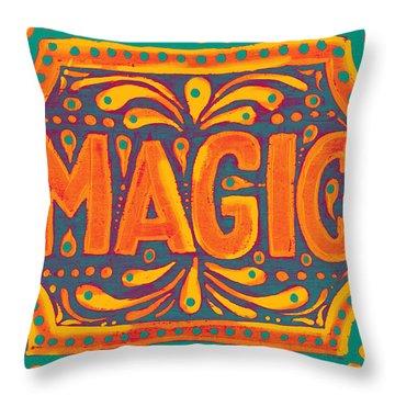 Orange Magic  Throw Pillow