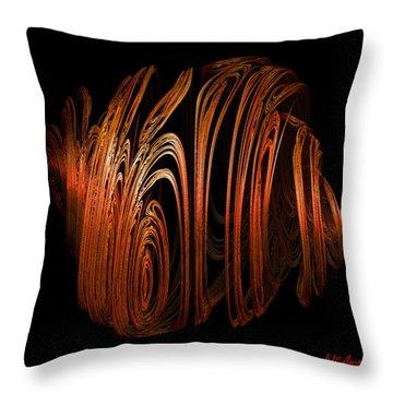 Orange Peel Throw Pillow by Michael Durst