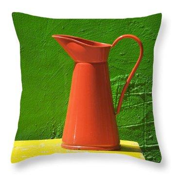 Orange Pitcher Throw Pillow by Garry Gay