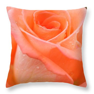 Orange Rose Throw Pillow by Atiketta Sangasaeng