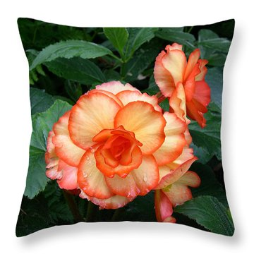 Orange Spectacular Throw Pillow