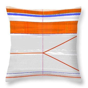Orange Triangle Throw Pillow