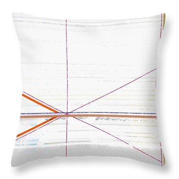 Orange Triangles With Grey Throw Pillow