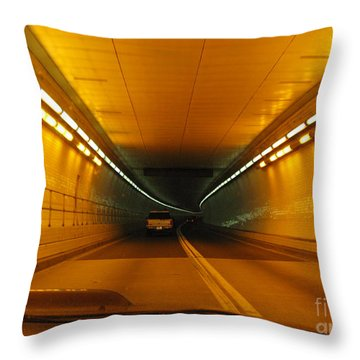 Orange Tunnel In Dc Throw Pillow by Ausra Huntington nee Paulauskaite