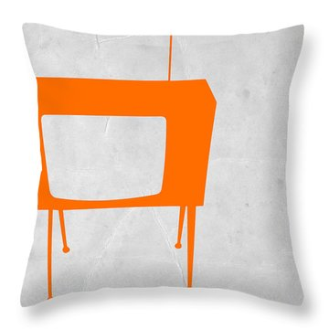Orange Tv Throw Pillow