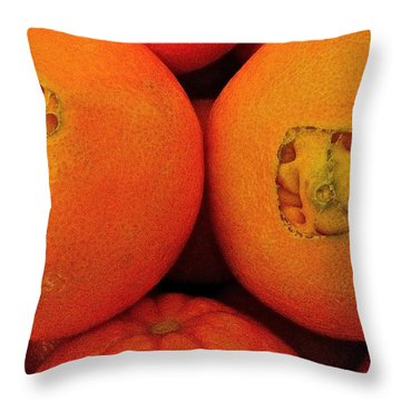 Throw Pillow featuring the photograph Oranges by Bill Owen