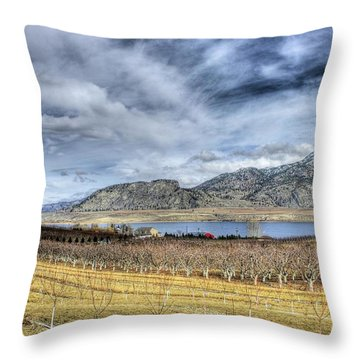 Orchards And Vineyards Throw Pillow by John  Greaves