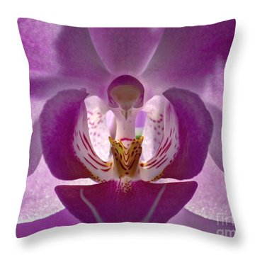 Orchid   Throw Pillow by Sue Stefanowicz