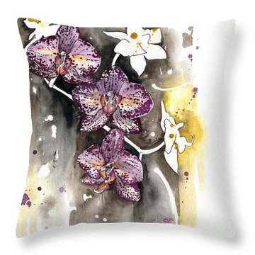 Orchid 13 Elena Yakubovich Throw Pillow