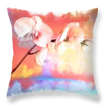 Orchid 3 Throw Pillow by Mauro Celotti