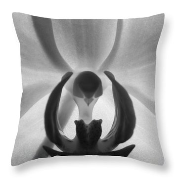 Throw Pillow featuring the photograph Orchid Heart by Kume Bryant