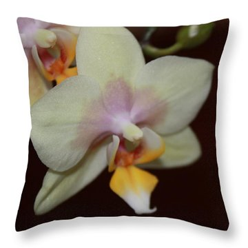 Orchid I Throw Pillow by Kelly Hazel