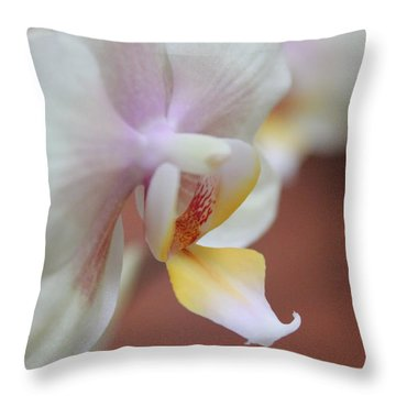 Orchid II Throw Pillow by Kelly Hazel