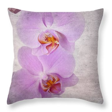 Orchid Throw Pillow by Jane Rix