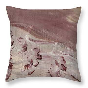 Orchid River Throw Pillow