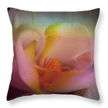 Orchid Splendor Throw Pillow by Shirley Sirois