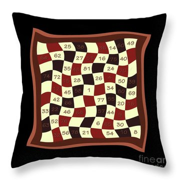 Order Nine Magic Square Puzzle Throw Pillow by Pet Serrano