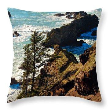 Throw Pillow featuring the photograph Oregon Coast by Athena Mckinzie