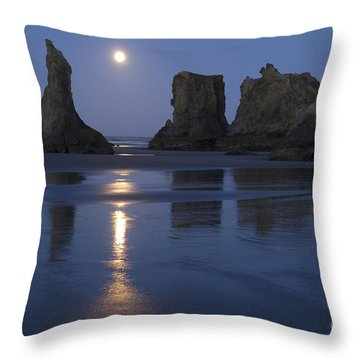 Oregon Coast Throw Pillow by John Shaw and Photo Researchers