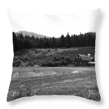 Oregon Farm Throw Pillow