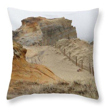 Throw Pillow featuring the photograph Oregon Sand Dunes by Athena Mckinzie