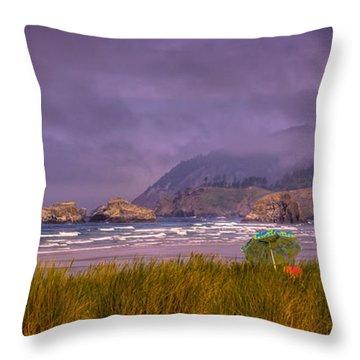 Oregon Seascape Throw Pillow by David Patterson