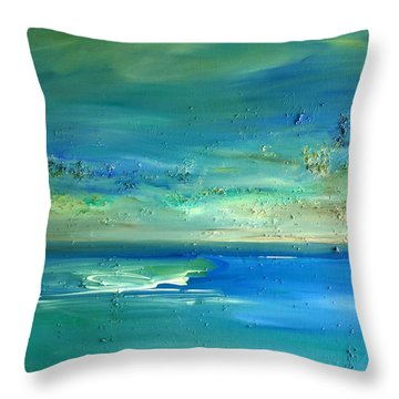 Organic Seascape Throw Pillow by Dolores  Deal